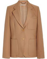 Stella McCartney Eleanor Wool Blazer - Natural