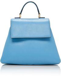 Emilia Wickstead Small Accordion Leather Top Handle Bag - Blue