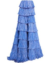 Rosie Assoulin - Tiered Plissé Ball Skirt - Lyst