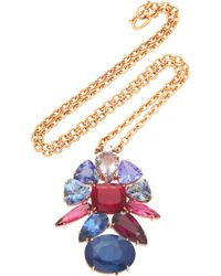 Irene Neuwirth - One-of-a-kind 18k Gold Tanzanite And Sapphire Necklace - Lyst