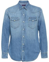 Ralph Lauren Denim Western Shirt - Blue