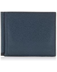 Valextra Textured Leather Wallet - Blue
