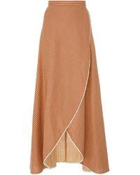 Miguelina Ballerina Wrap Skirt - Red