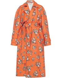 Emilia Wickstead - Yves Floral Cloqué Trench Coat - Lyst