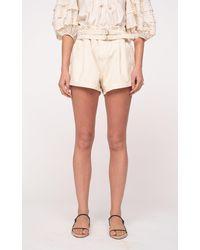 Sea Evelina Belted Cotton Shorts - Multicolour
