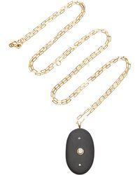 CVC Stones - Hypnotic 18k Gold, Stone And Diamond Necklace - Lyst