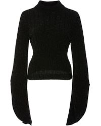 Brandon Maxwell - Knit Bell Sleeve Pull Over - Lyst