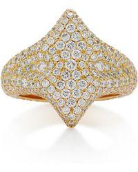 Ilana Ariel - Adina 18k Gold Diamond Signet Ring - Lyst