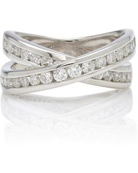 Lynn Ban Infinity Sterling Silver And Diamond Ring - Metallic