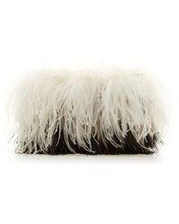 Altuzarra Espadrille Two-tone Ostrich Feather Clutch - Multicolor