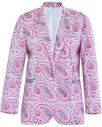 Alix Of Bohemia Rasha Paisley Cotton Blazer - Pink