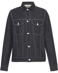 Marni - Printed Unwashed Denim Jacket - Lyst