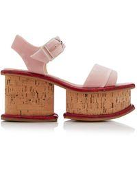 Gabriela Hearst Harrigan Platform Sandals - Pink