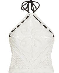 Alexis Bettie Knit Halter Top - White
