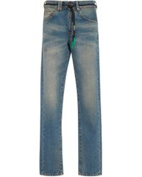 Off-White c/o Virgil Abloh - Distressed Slim-fit Jeans - Lyst