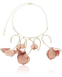 Marni | Fabric Flowers And Strass Necklace | Lyst