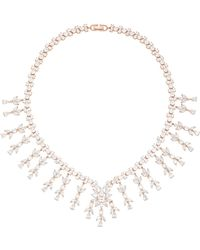 Fallon - Monarch Weeping Fern Metal And Crystal Necklace - Lyst