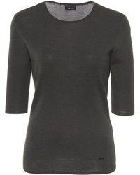 Akris - Rib Knit Cashmere Silk Blend Top - Lyst