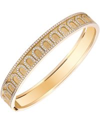 Davidor L'arc 18k Yellow Gold Diamond Bangle - Metallic