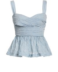 Ciao Lucia Isla Striped Wrap Top - Blue