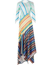 Peter Pilotto - Striped Jersey Midi Dress - Lyst