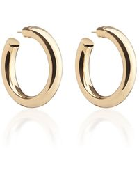 Jennifer Fisher Baby Jamma 14k Gold-plated Hoop Earrings - Metallic