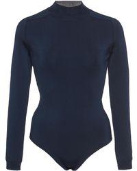 Lanvin Mock Neck Bodysuit - Blue