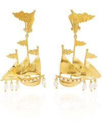 Christie Nicolaides Capitana Earrings - Metallic