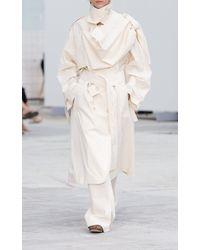 Mark Kenly Domino Tan Pemba Wide Leg Trousers - White