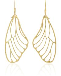 Annette Ferdinandsen - 18k Gold Butterfly Wing Earrings - Lyst