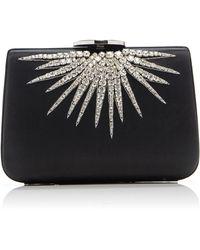 Giambattista Valli Crystal Embellished Clutch Bag - Black