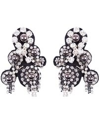 Dorothee Schumacher | Rock Glam Embroidered Clip Earrings | Lyst