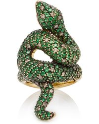Sidney Garber | Green Eyed Snake Ring | Lyst
