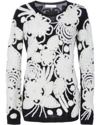 Naeem Khan   Embroidered Cashmere Sweater   Lyst
