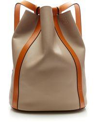 Loewe Midnight Belt Backpack Bag - Brown
