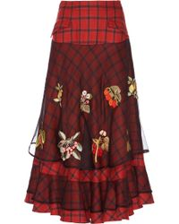 Rahul Mishra - Berry Bloom Skirt - Lyst