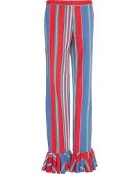 Tata Naka - Flared Striped Trouser - Lyst