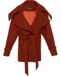 Christian Siriano - Belted Wool Coat - Lyst