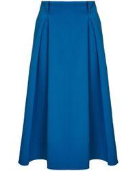 Safiyaa - Vincaya A-line Midi Skirt - Lyst