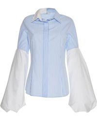 Tuinch - Striped Button Down Shirt - Lyst