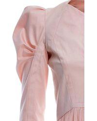 Genny Puff Shoulder Pleated Mini Dress - Pink