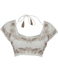 All That Remains Anouk Cropped Top - White