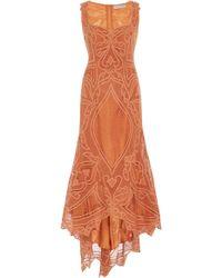 Martha Medeiros Marcelina Renaissance Midi Dress - Brown