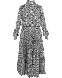 Dalood   Cotton Pleated Dress   Lyst