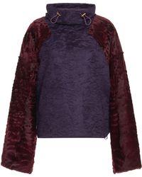 Agnona | High Neck Astrakhan Sweatshirt | Lyst