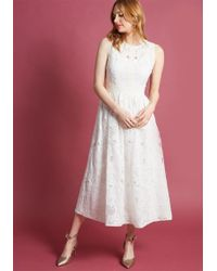 ModCloth - Destination Dreaming Midi Dress In Ivory - Lyst