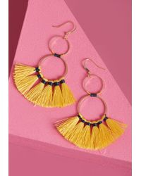 ModCloth - Flaunt Your Fringe Earrings - Lyst