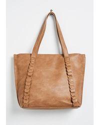 ModCloth A Minor Detail Tote Bag - Brown