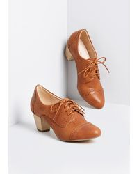 ModCloth - Dapper Docent Oxford Heel - Lyst