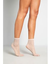 ModCloth Sheer For The Party Ankle Socks - Size Os - Multicolor